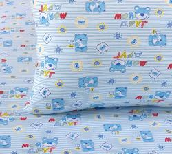 """Купить детское постельное белье из трикотажа """"Мой друг (синий)"""""""